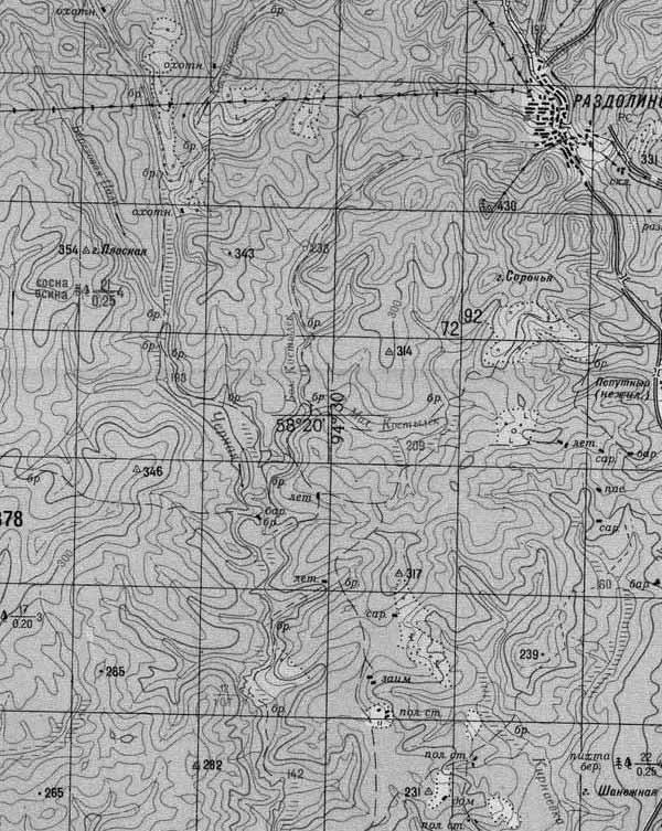 Карта Мотыгинского Района П Раздолинск